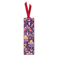 Abstract Background Floral Pattern Small Book Marks