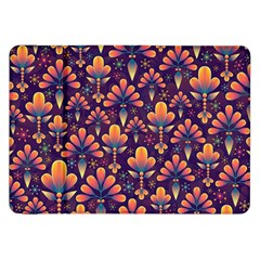 Abstract Background Floral Pattern Samsung Galaxy Tab 8 9  P7300 Flip Case