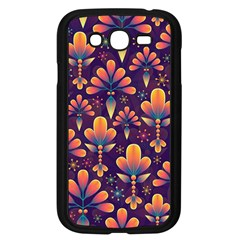 Abstract Background Floral Pattern Samsung Galaxy Grand Duos I9082 Case (black)