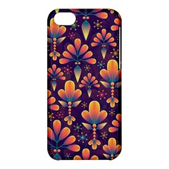 Abstract Background Floral Pattern Apple Iphone 5c Hardshell Case by Nexatart