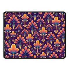 Abstract Background Floral Pattern Double Sided Fleece Blanket (small)