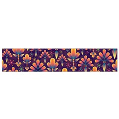 Abstract Background Floral Pattern Small Flano Scarf