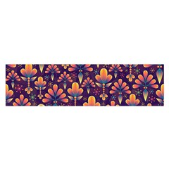 Abstract Background Floral Pattern Satin Scarf (oblong)