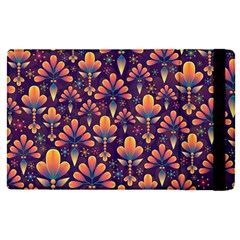 Abstract Background Floral Pattern Apple Ipad Pro 9 7   Flip Case