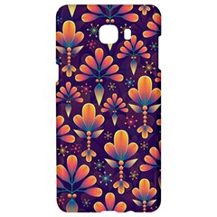 Abstract Background Floral Pattern Samsung C9 Pro Hardshell Case