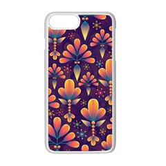 Abstract Background Floral Pattern Apple Iphone 8 Plus Seamless Case (white) by Nexatart