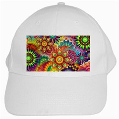 Colorful Abstract Background Colorful White Cap