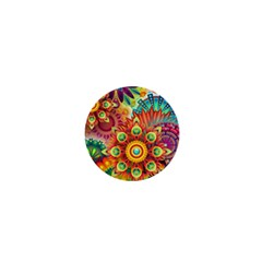 Colorful Abstract Background Colorful 1  Mini Magnets by Nexatart