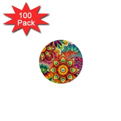 Colorful Abstract Background Colorful 1  Mini Buttons (100 Pack)
