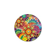 Colorful Abstract Background Colorful Golf Ball Marker (4 Pack)