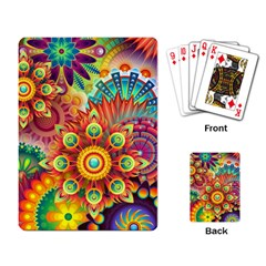 Colorful Abstract Background Colorful Playing Card