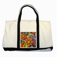 Colorful Abstract Background Colorful Two Tone Tote Bag