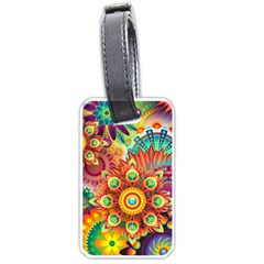 Colorful Abstract Background Colorful Luggage Tags (two Sides) by Nexatart