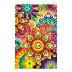 Colorful Abstract Background Colorful Shower Curtain 48  X 72  (small)