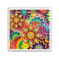 Colorful Abstract Background Colorful Memory Card Reader (square)