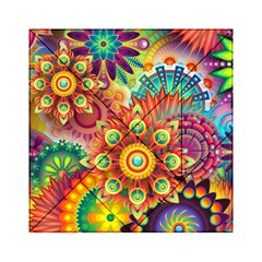 Colorful Abstract Background Colorful Acrylic Tangram Puzzle (6  X 6 )