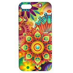 Colorful Abstract Background Colorful Apple Iphone 5 Hardshell Case With Stand