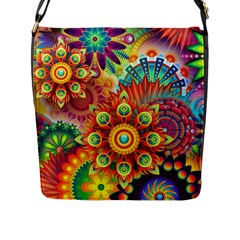Colorful Abstract Background Colorful Flap Messenger Bag (l)