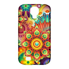 Colorful Abstract Background Colorful Samsung Galaxy S4 Classic Hardshell Case (pc+silicone)