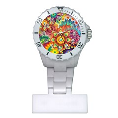 Colorful Abstract Background Colorful Plastic Nurses Watch