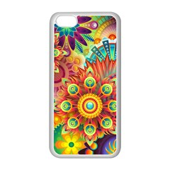 Colorful Abstract Background Colorful Apple Iphone 5c Seamless Case (white)