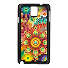 Colorful Abstract Background Colorful Samsung Galaxy Note 3 N9005 Case (black)