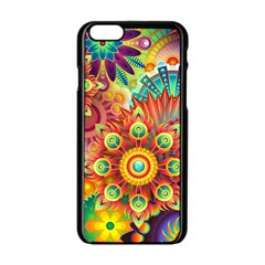 Colorful Abstract Background Colorful Apple Iphone 6/6s Black Enamel Case