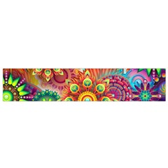Colorful Abstract Background Colorful Small Flano Scarf