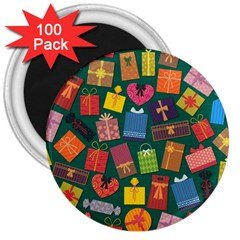 Presents Gifts Background Colorful 3  Magnets (100 Pack)