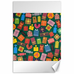 Presents Gifts Background Colorful Canvas 24  X 36