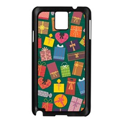 Presents Gifts Background Colorful Samsung Galaxy Note 3 N9005 Case (black)