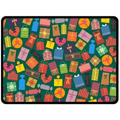 Presents Gifts Background Colorful Double Sided Fleece Blanket (large)  by Nexatart