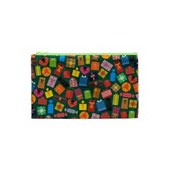 Presents Gifts Background Colorful Cosmetic Bag (xs)