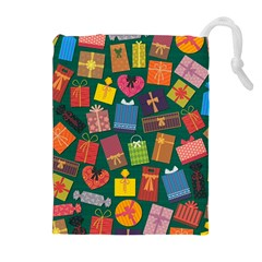 Presents Gifts Background Colorful Drawstring Pouches (extra Large)