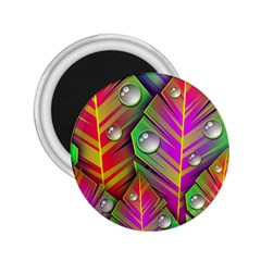 Abstract Background Colorful Leaves 2 25  Magnets
