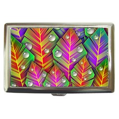 Abstract Background Colorful Leaves Cigarette Money Cases