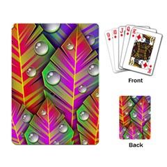 Abstract Background Colorful Leaves Playing Card