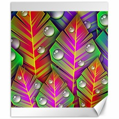 Abstract Background Colorful Leaves Canvas 20  X 24   by Nexatart