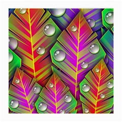 Abstract Background Colorful Leaves Medium Glasses Cloth