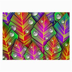 Abstract Background Colorful Leaves Large Glasses Cloth (2 Side)