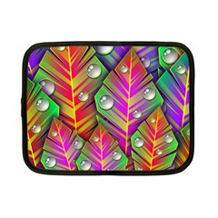 Abstract Background Colorful Leaves Netbook Case (small)