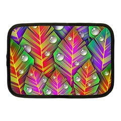 Abstract Background Colorful Leaves Netbook Case (medium)