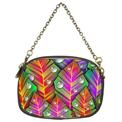 Abstract Background Colorful Leaves Chain Purses (one Side)
