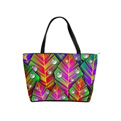 Abstract Background Colorful Leaves Shoulder Handbags