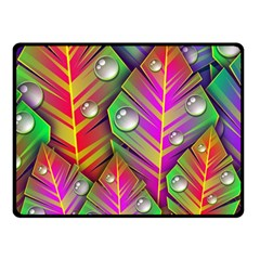 Abstract Background Colorful Leaves Fleece Blanket (small) by Nexatart