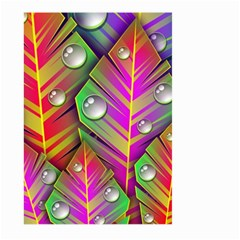 Abstract Background Colorful Leaves Large Garden Flag (two Sides) by Nexatart