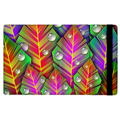 Abstract Background Colorful Leaves Apple Ipad 3/4 Flip Case