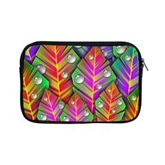 Abstract Background Colorful Leaves Apple Ipad Mini Zipper Cases