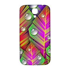 Abstract Background Colorful Leaves Samsung Galaxy S4 I9500/i9505  Hardshell Back Case