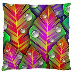 Abstract Background Colorful Leaves Standard Flano Cushion Case (two Sides)